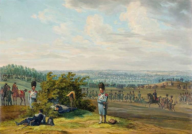 Vitebsk. Near the City, 1812 - Albrecht Adam