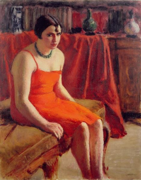 Seated Woman in a Red Dress, c.1925 - Roderic O'Conor