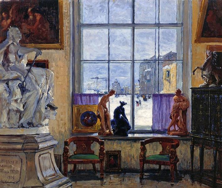 Corner of a Museum, 1916 - Konstantin Gorbatov