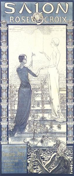 Salon De La Rose+Croix, 1892 - Carlos Schwabe