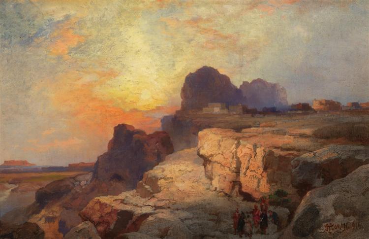 Acoma Pueblo, 1916 - Thomas Moran