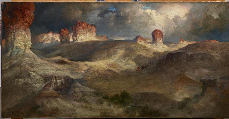 Pine Buttes, Wyoming, 1914 - Thomas Moran