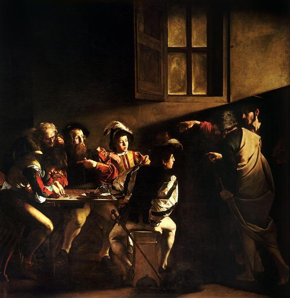 Calling of Saint Matthew, c.1600 - Caravaggio