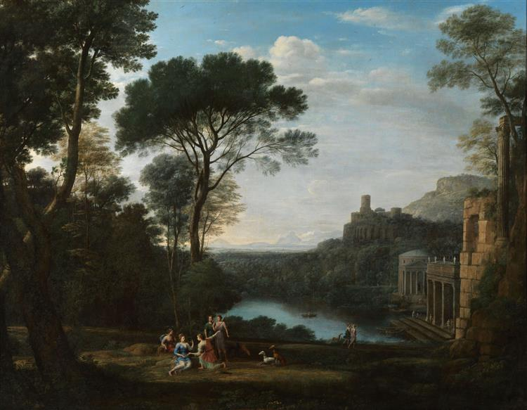 Landscape with the Nymph Egeria, c.1669 - Claude Lorrain