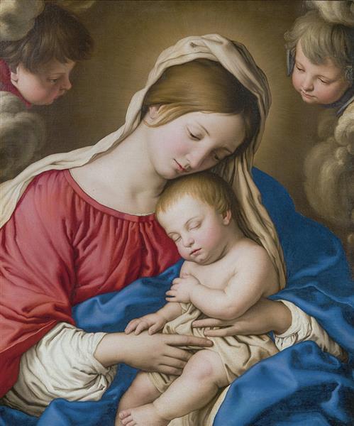 Madonna and child - Giovanni Battista Salvi da Sassoferrato