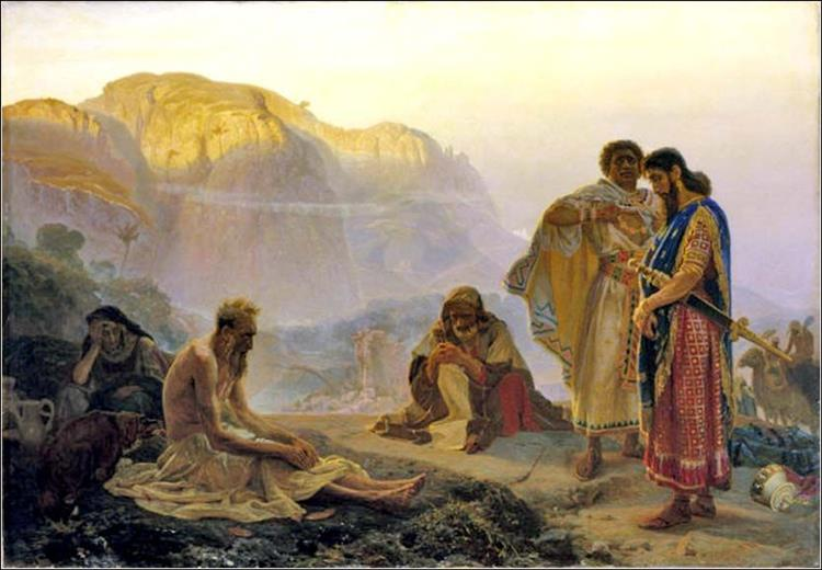 Job and His Friends, 1869 - Ilya Repin