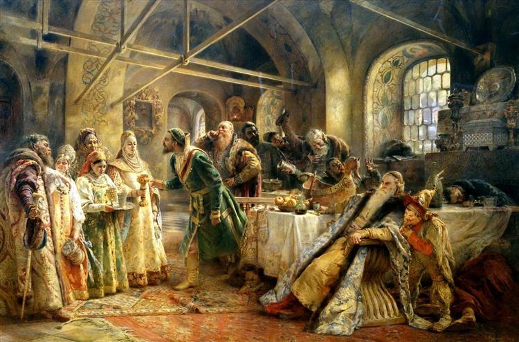 Kissing Ceremony - Konstantin Makovsky