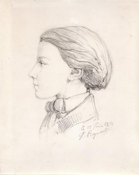 Presumed portrait of the artist's brother (23 June 1859), 1859 - Henri Regnault