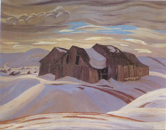 Barns, 1926 - A. Y. Jackson