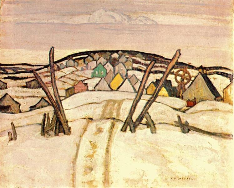 The Winter Road, Quebec, 1921 - A.Y. Jackson