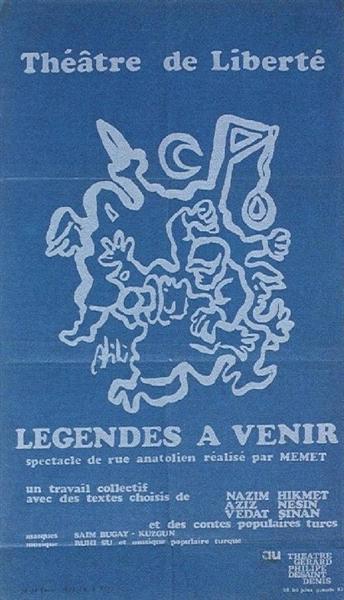 Legendes a venir (theatre poster), 1972 - Abidin Dino