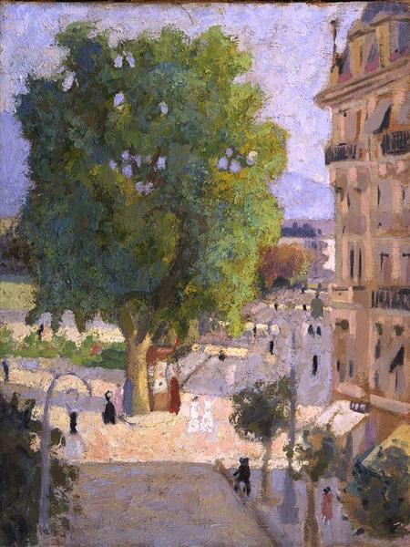 Paris Street - Abraham Manievich