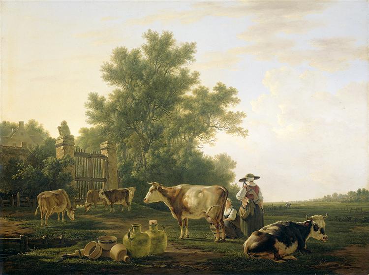 Milking Time, c.1810 - Abraham van Strij