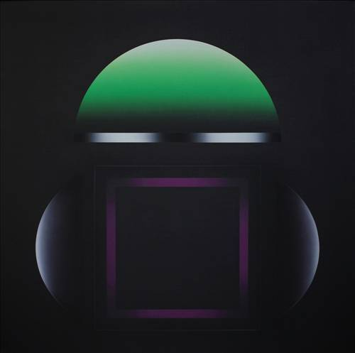 Yarım Küreler ve Mor Kare (Half Spheres and Purple Frame) - Adnan Coker
