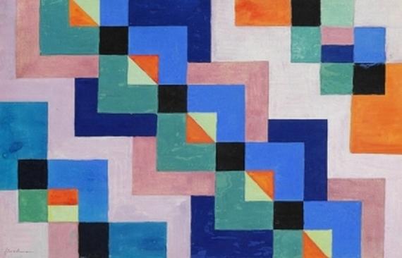 Quadrate diagonal, 1943 - Adolf Fleischmann