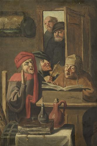 Musical company - Adriaen Brouwer
