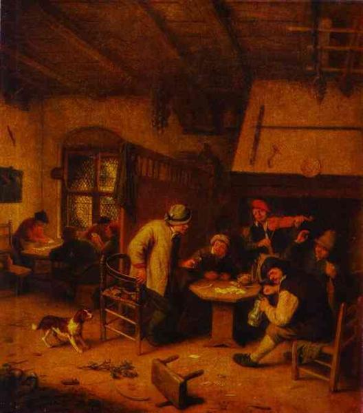 In a Tavern, c.1671 - Adriaen van Ostade