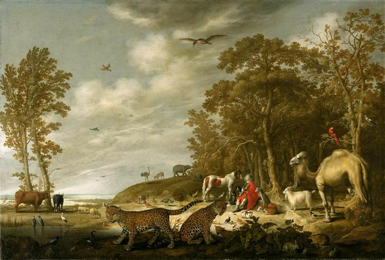 Orpheus with Animals in a Landscape, c.1640 - Альберт Кёйп