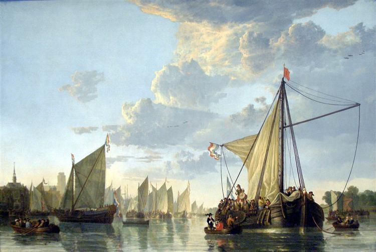 The Maas at Dordrecht, c.1650 - Aelbert Cuyp