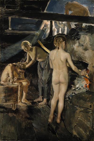 Au sauna, 1889 - Akseli Gallen-Kallela