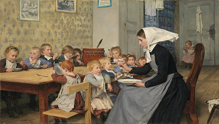 The Crèche I - Albert Anker
