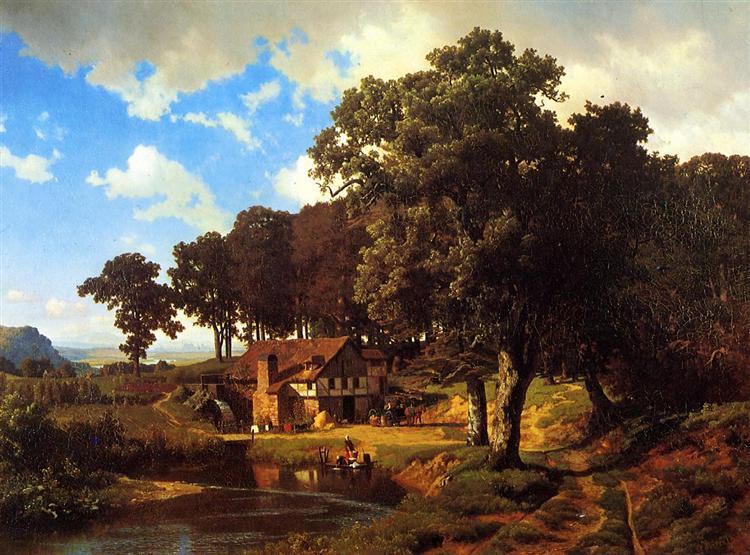 A Rustic Mill, c.1855 - Альберт Бірштадт