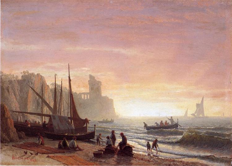 The Fishing Fleet, 1862 - Albert Bierstadt