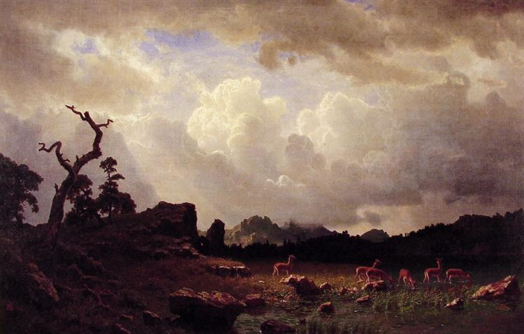 Thunderstorm in the Rocky Mountains - Albert Bierstadt