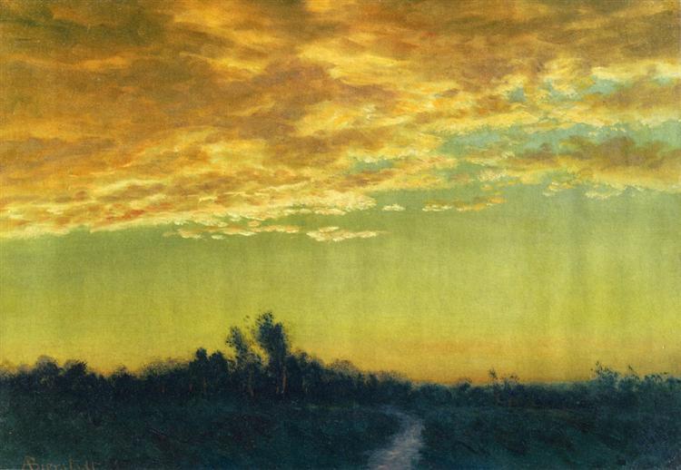 Twilight over the Path - Альберт Бірштадт