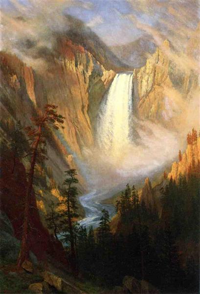 Yellowstone Falls, 1881 - Albert Bierstadt