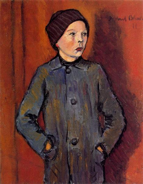 Portrait of a Boy - Albert Bloch