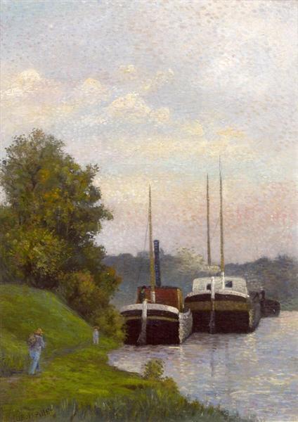 Charlands sur La-Seine, 1885 - Albert Dubois-Pillet