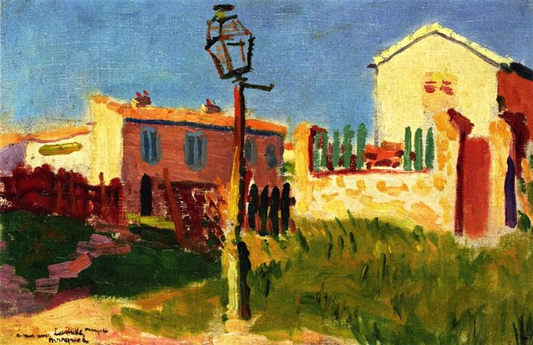 Street Lamp, Arcueil, 1899 - Альбер Марке