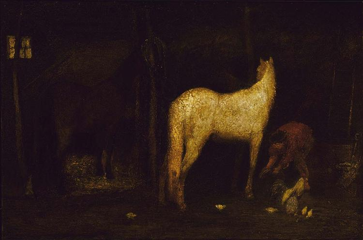 In the Stable - Albert Pinkham Ryder