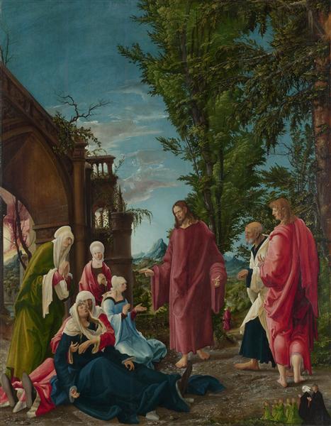 Christ taking Leave of his Mother, 1520 - Albrecht Altdorfer