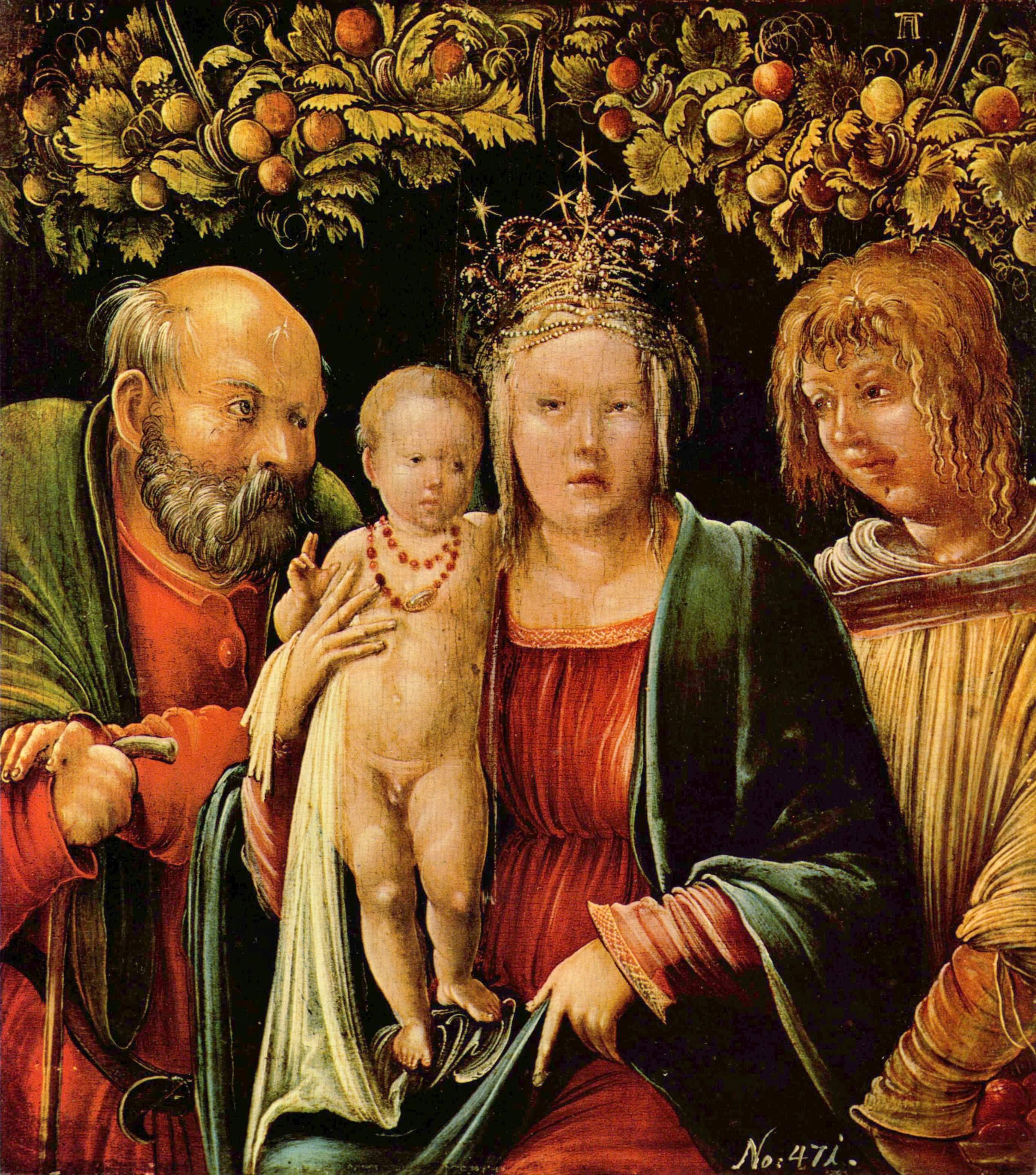 Holy Familywith an Angel, 1515