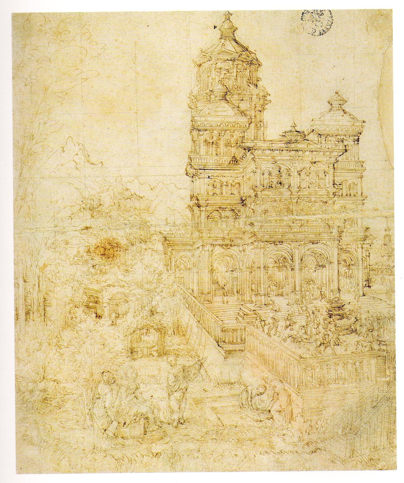 Overallsketch of thepictureSusannaand the Elders, 1526