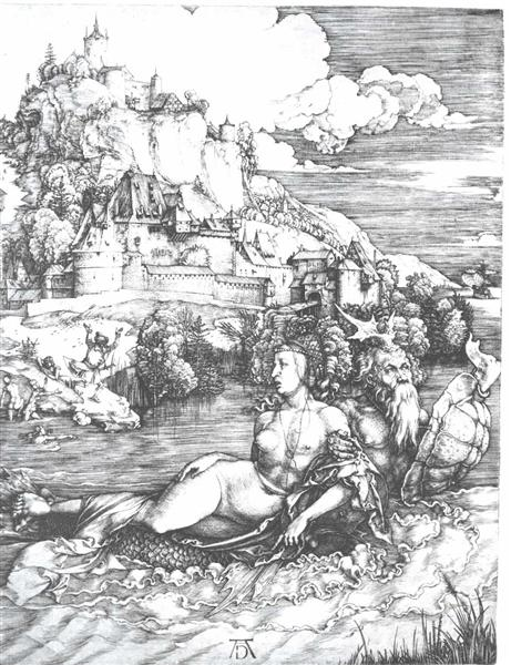 A sea monster bearing away a princess, 1528 - Albrecht Dürer