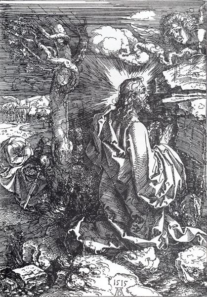 Agony In The Garden, 1515 - Albrecht Durer