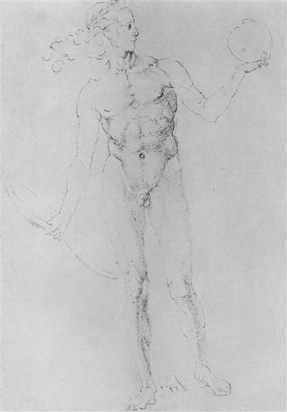 Male Nude(Apollo Poynter), 1501 - 1503 - Albrecht Durer