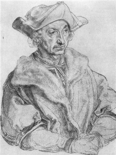 Portrait of a man (Sebastian Brant), c.1520 - Albrecht Durer
