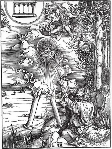 St. John Devouring the Book from the 'Apocalypse', 1498 - Albrecht Durer