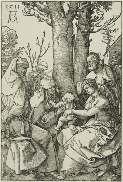 The Holy Family with Joachim and Saint Ann - Albrecht Durer