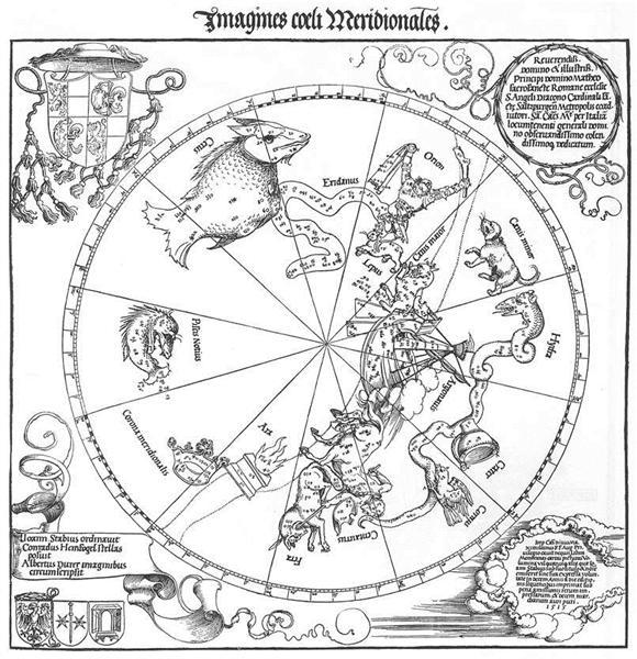 The Southern Hemisphere of the Celestial Globe, 1515 - Albrecht Durer