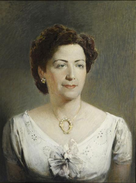 Portrait of Eugenia, Wife of Kleomenis Tsitsaras - Alekos Kontopoulos