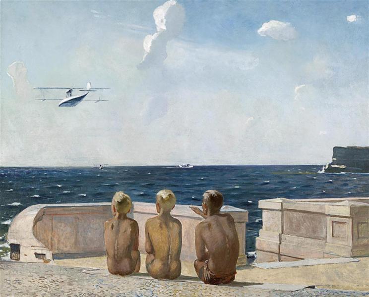 Future Pilots, 1938 - Aleksandr Deyneka