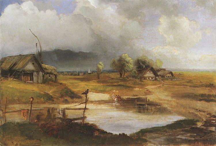 Country Scene, c.1890 - Aleksey Savrasov