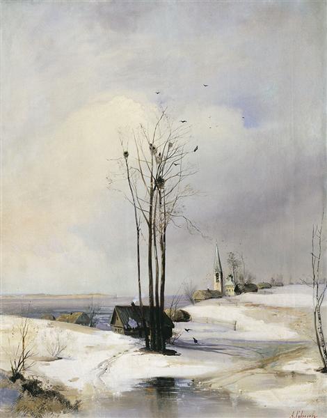 Early Spring. Thaw, 1885 - 阿历克塞·贡德拉特维奇·萨伏拉索夫