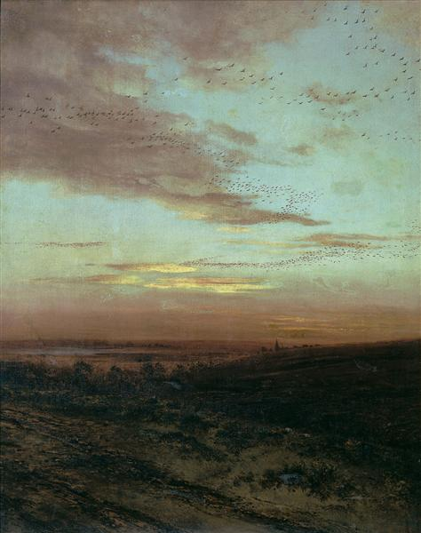 Evening Migration of birds, 1874 - Alexei Kondratjewitsch Sawrassow