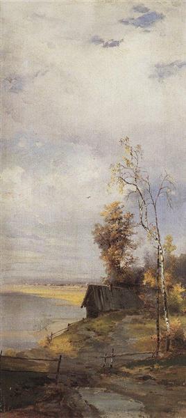 Landscape with a house - Aleksey Savrasov